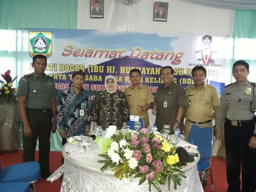 Saba Desa/Boling Bupati Bogor di Sukamakmur